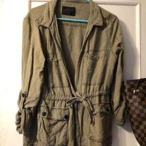 Sanctuary linen cargo jacket